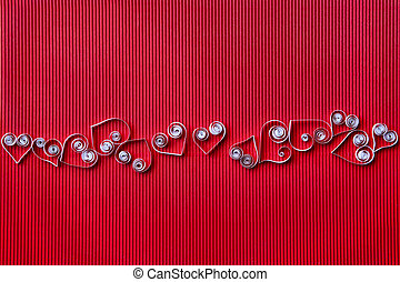 Heart of paper quilling for Valentine's day - Quilling paper...