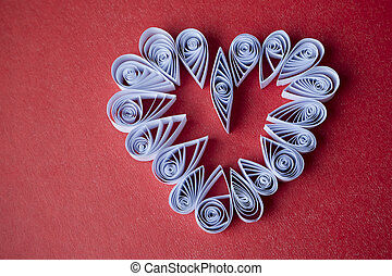 Hearts of paper quilling for Valentines day - Quilling paper...