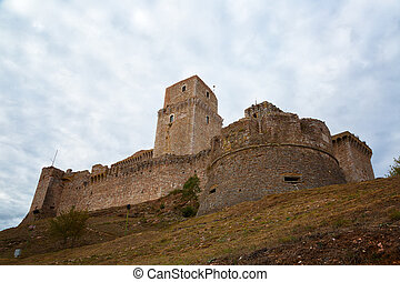 Rocca Maggiore fortress in Assisi, Umbria, Italy