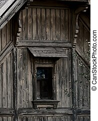 Wood house. - The old wooden Russian house in Russian north....