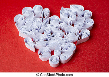 Hearts, of, paper, quilling, for, Valentine's, day