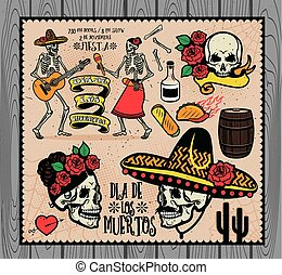 Dia de los Muertos - Day of the Dead The skeleton dance