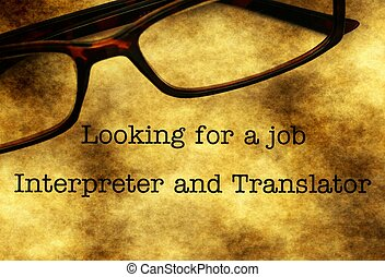 Interpreter and translation job