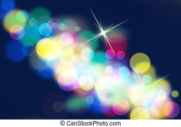 Abstract background Colorful bokeh blurred lights background...