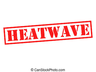 HEATWAVE red Rubber Stamp over a white background.