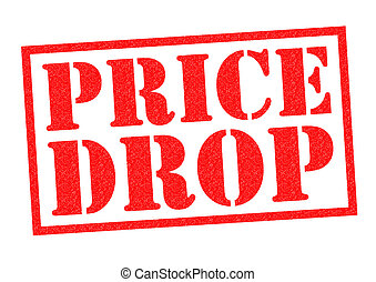 PRICE DROP red Rubber Stamp over a white background