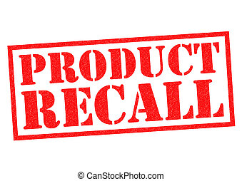 PRODUCT RECALL red Rubber Stamp over a white background