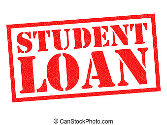 STUDENT LOAN red Rubber Stamp over a white background.