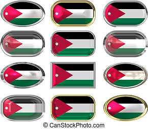 12 buttons of the Flag of Jordan