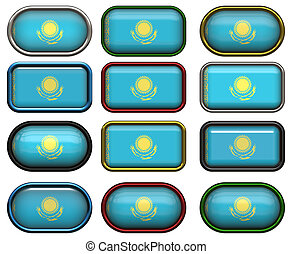 12 buttons of the Flag of Kazakhstan