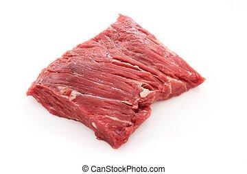 aged steak - raw uncooked brisket flat iron steak