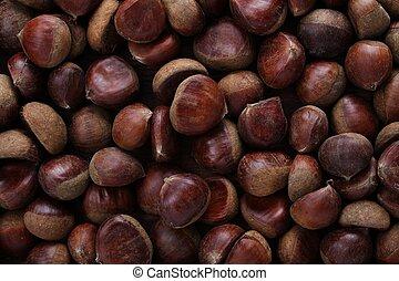 chestnuts - fresh chestnuts