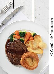 roast beef dinner - traditional roast beef dinner