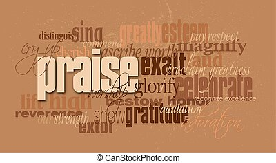 Christian praise word montage - Graphic typographic montage...
