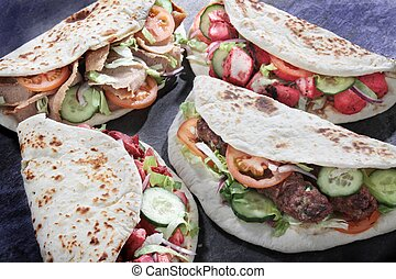 indian donner wrap - indian tikka shish donner wrap sandwich