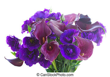 Calla lilly and eustoma flowers - Bunch of Calla lilly and...