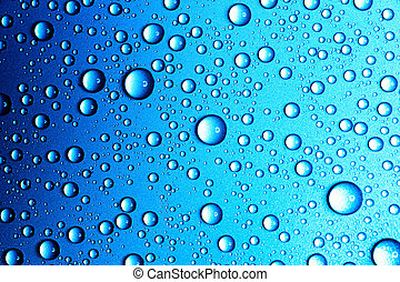 Abstract blue background of waterdrops