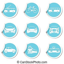 Transportation icons Vector illustration