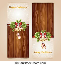 Greeting cards with background wood