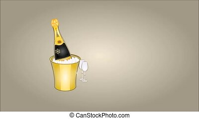 Happy New Year midnight drink video - Animation of...