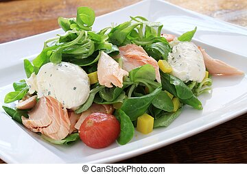 hot smoked salmon - hort smoked salmon salad