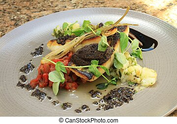 seabass plated meal
