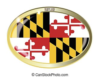 Maryland State Flag Oval Button