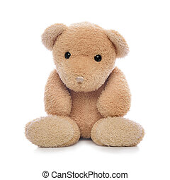 Teddy bear isolated - Teddy bear isolated on a white...