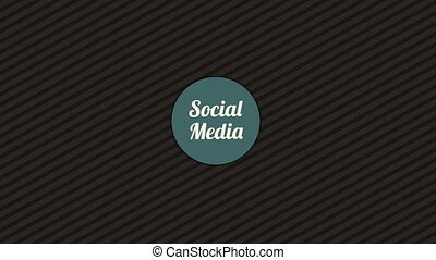 Social Media Icons, Video Animation HD1080