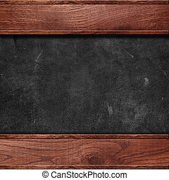 Leather with wooden frame
