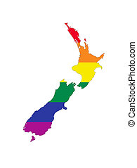 new zealand gay map - new zealand country gay pride flag map...