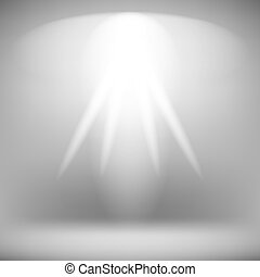 Stage Spotlight Background - Spotlight Isolated on Grey...