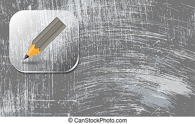 abstract scratched background and pencil symbol