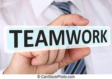 Businessman business concept with teamwork working in a team