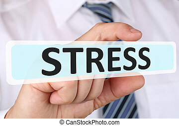Businessman business concept with stress stressed burnout at...