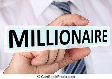 Businessman business concept millionaire rich wealth success successful