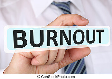 Businessman business concept with burnout ill illness stress...