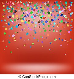 Set of Colorful Stars. Starry Pattern