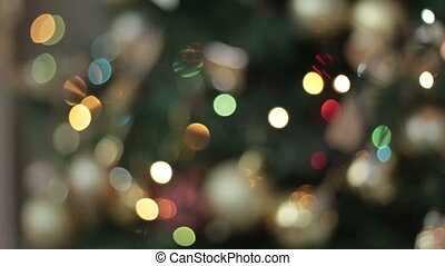 Cristmas light, Bokeh - Cristmas tree, light and Bokeh, full...