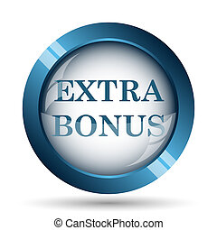 Extra bonus icon. Internet button on white background.