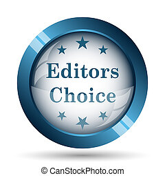 Editors choice icon. Internet button on white background.