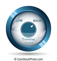 Training level icon Internet button on white background