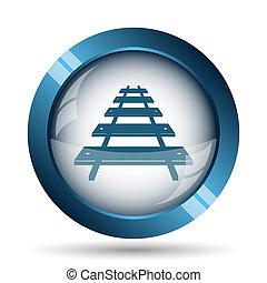 Rail road icon Internet button on white background