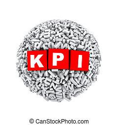 3d alphabet letter character sphere ball kpi - 3d rendering...