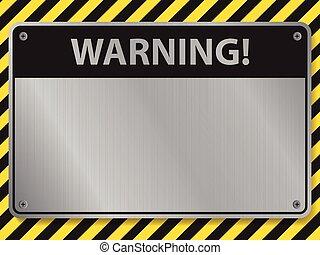 warning sign, illustration vector