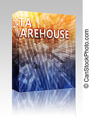 Data warehouse illustration box package - Software package...