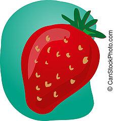 Strawberry fruit illustration