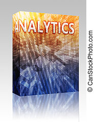 Analytics illustration box package - Software package box...