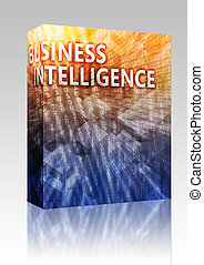Business Intelligence illustration box package - Software...