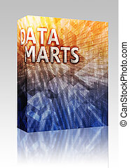 Data mart illustration box package - Software package box...